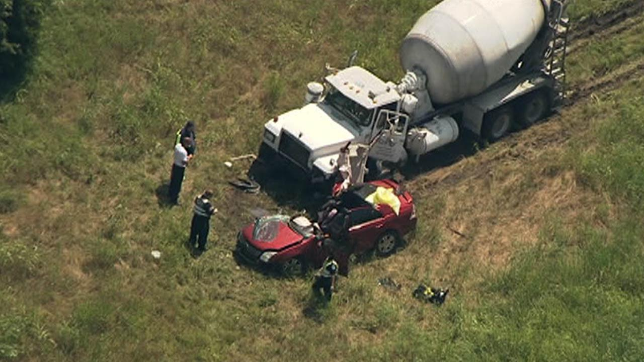 Cement truck and car involved in serious wreck in Montgomery County