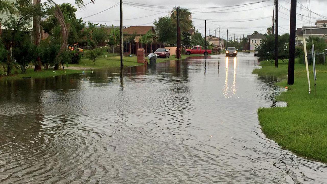 Flooding in Galveston