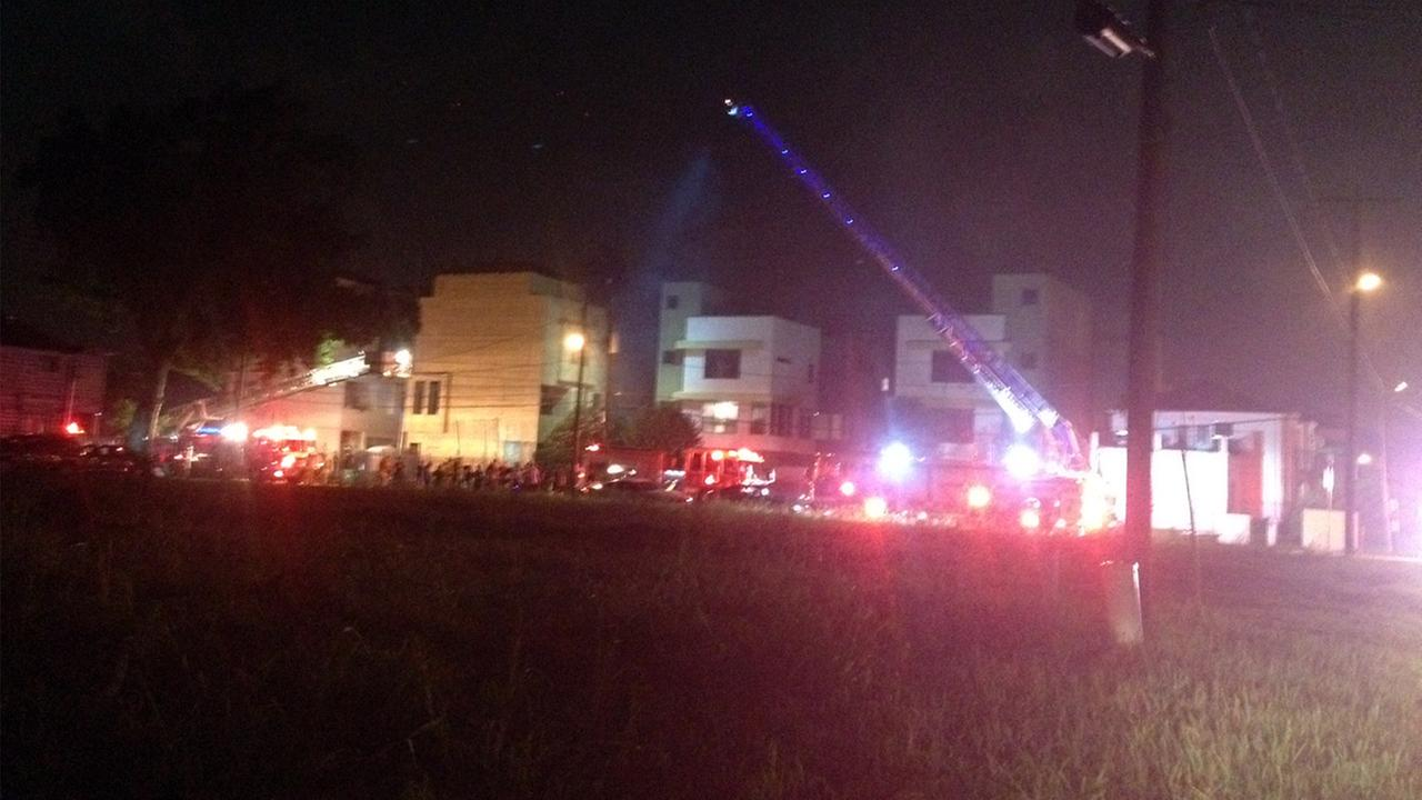 Townhomes on fire
