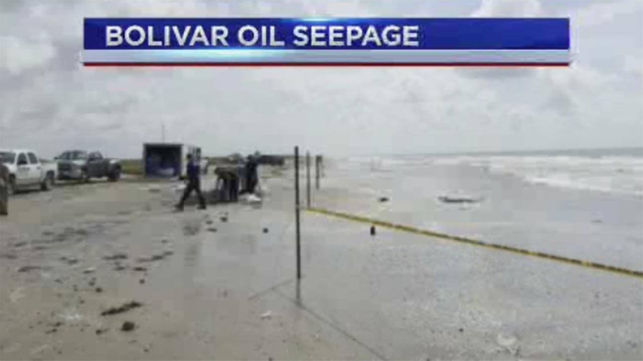 Coast Guard contains oil seepage on Bolivar Peninsula