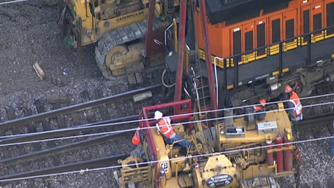 Train derails in Houston's East End