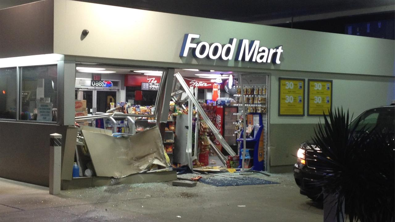 Smashed up store