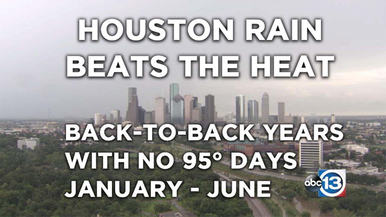 Houston rain beats the heat