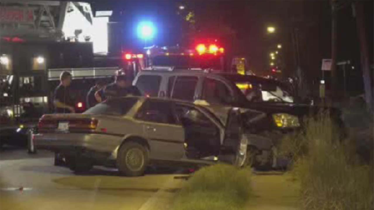 Scene of a fatal crash in northeast Houston