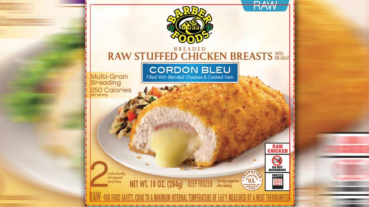 Frozen chicken product