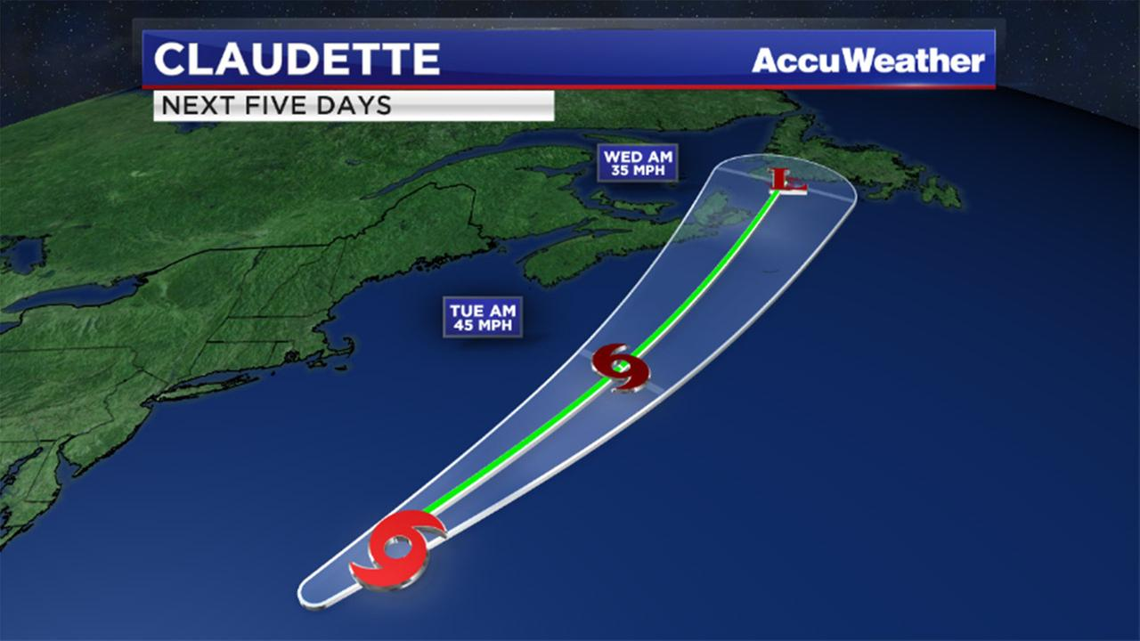 Tropical Storm Claudette forms in Atlantic; no threat to US