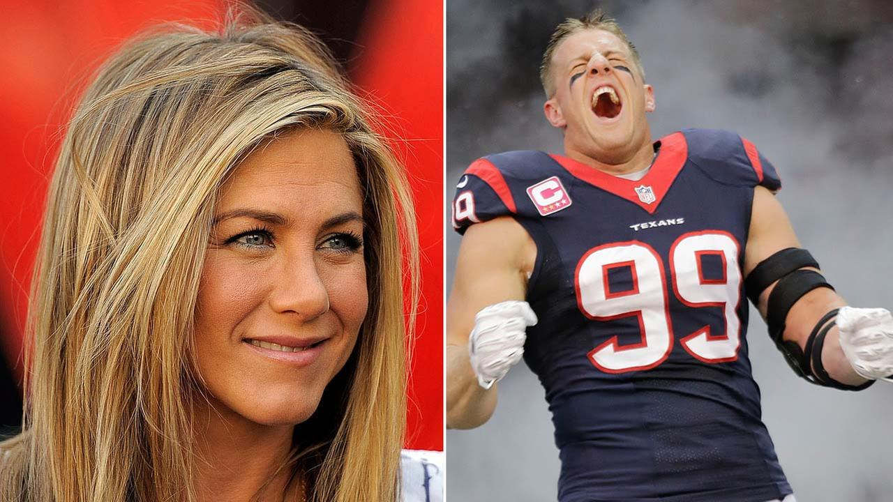 Jennifer Aniston and JJ Watt