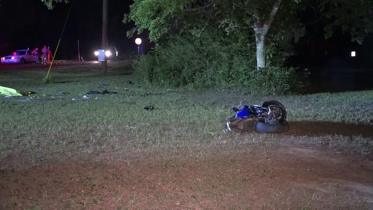 Crashed bike