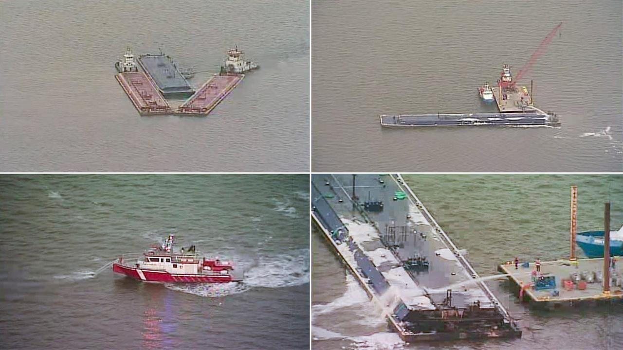 Barge collision