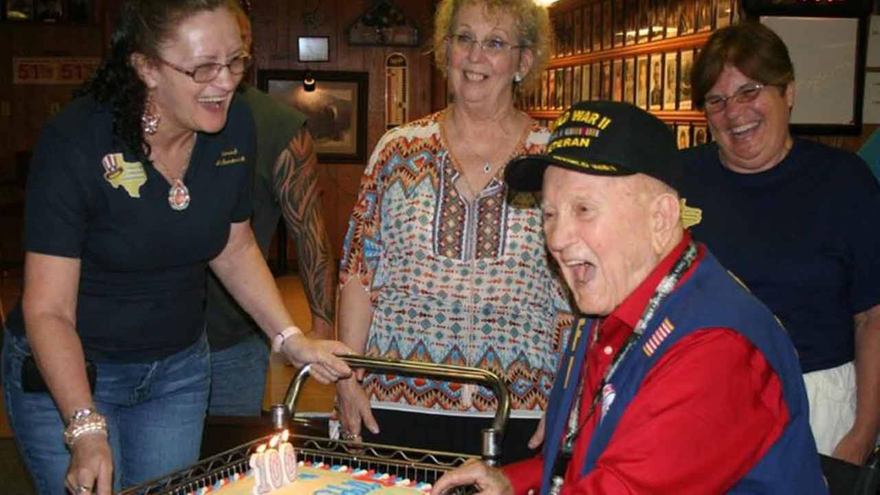 World War II veteran Verner Odell Lathrop celebrated his 100th birthday at VFW Post 1939 on Saturday, July 18.