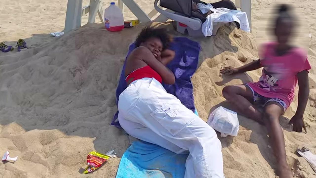Sleeping lifeguard