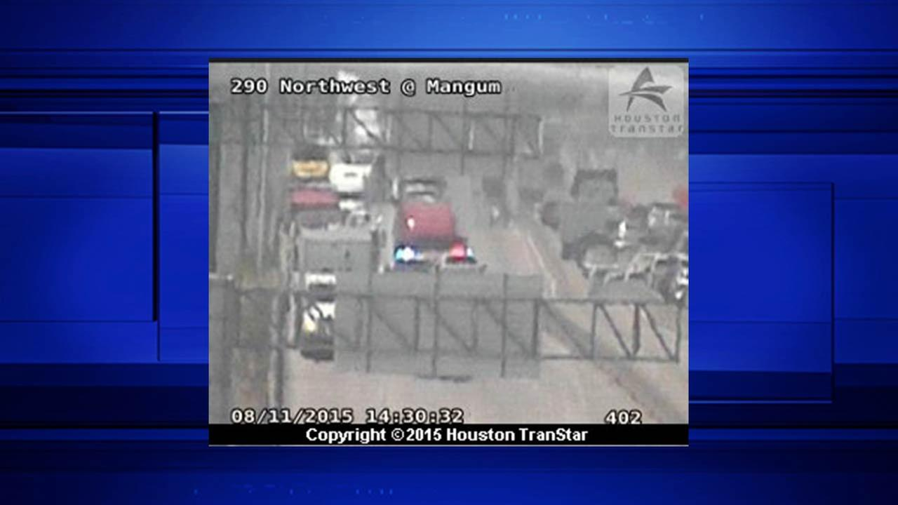 All EB lanes of Highway 290 at 34th Street shut down due to wreck