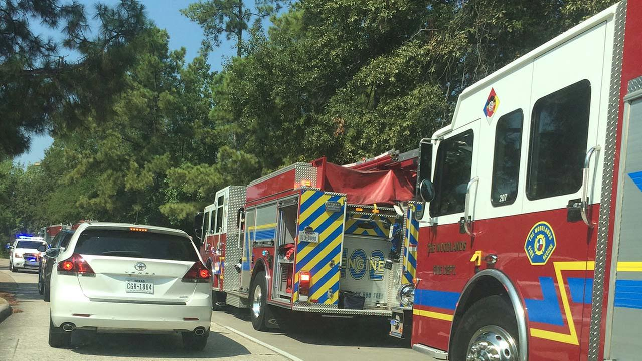 The scene of a gas leak in The Woodlands
