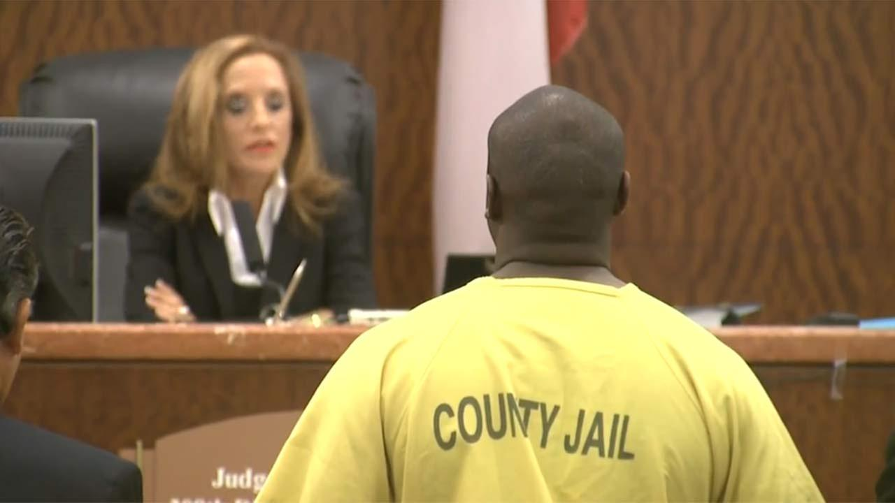 Shannon J. Miles, charged with capital murder in the death of Deputy Darren Goforth, appears in court.
