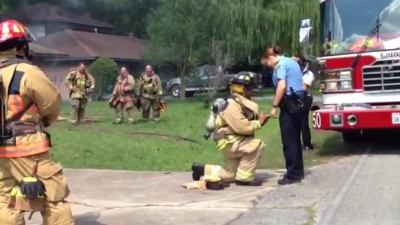 firefighter proposes