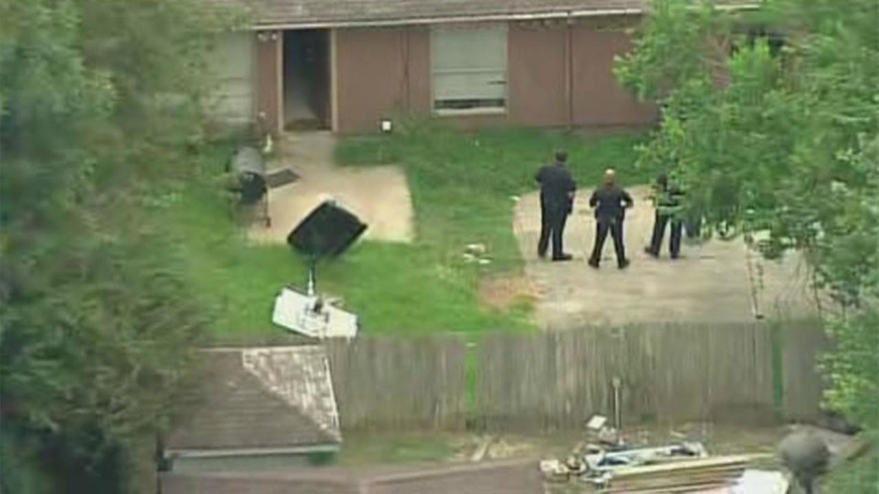 Authorities are on the scene of a drive-by shooting in north Harris County.