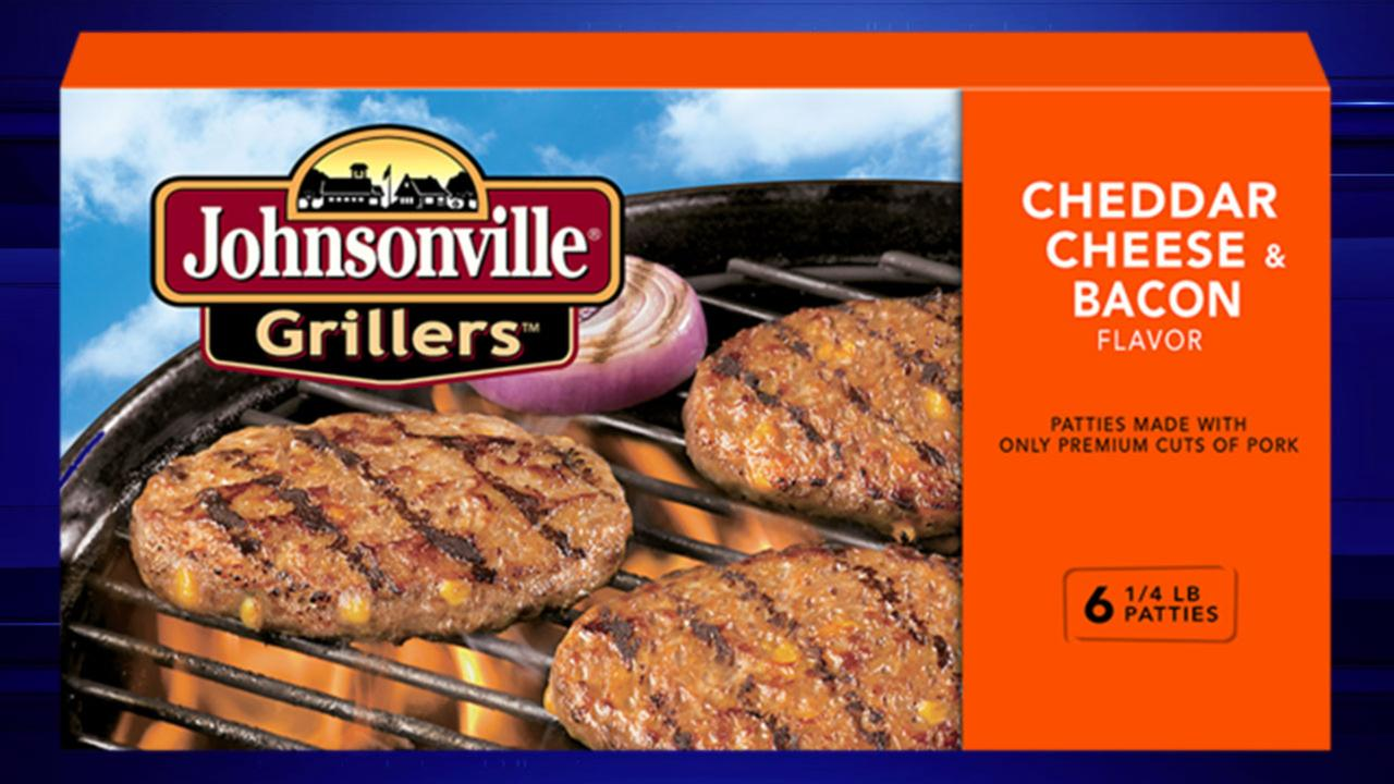 Johnsonville Grillers Cheddar Cheese and Bacon flavor