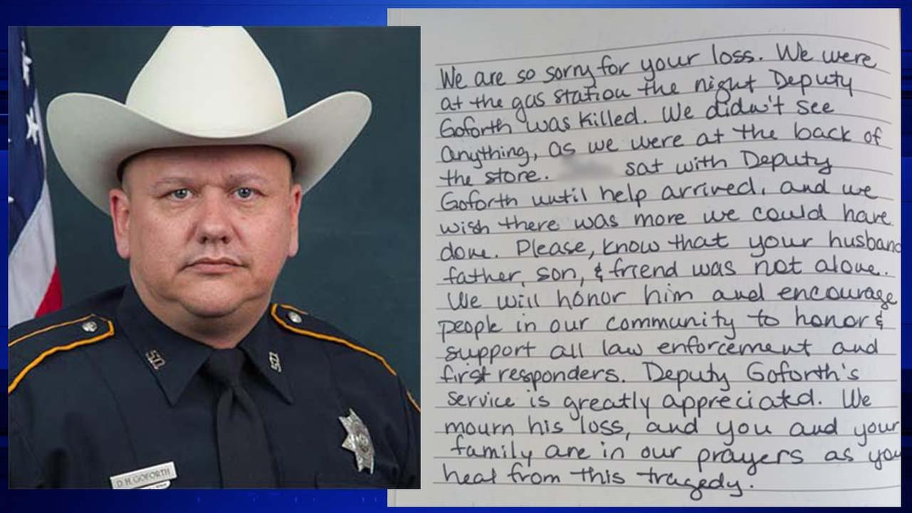 Letter to the Goforth family, redacted to omit the names of the people who sent the letter
