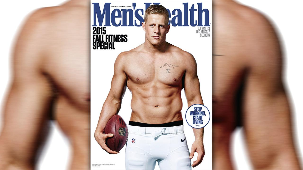 JJ Watt on Mens Health Magazine cover