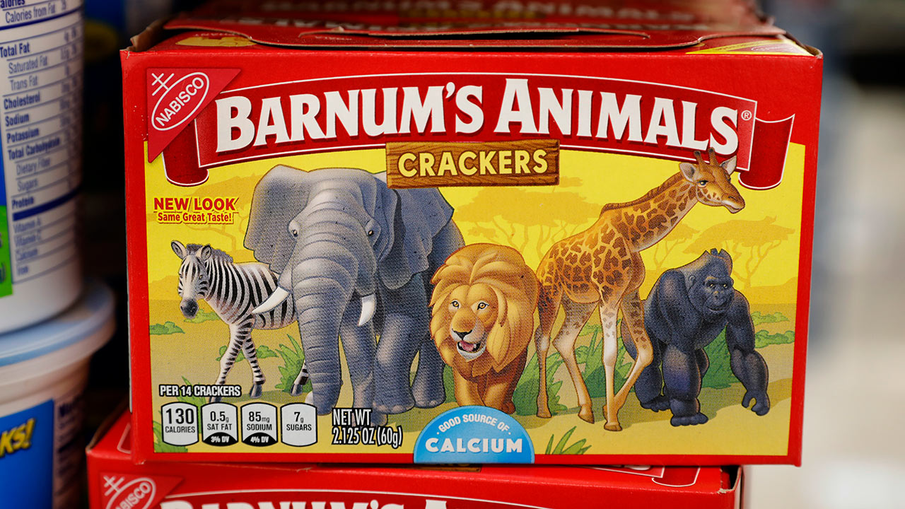 Mondelez International says it has redesigned the packaging of its Barnums Animals crackers after relenting to pressure from People for the Ethical Treatment of Animals.