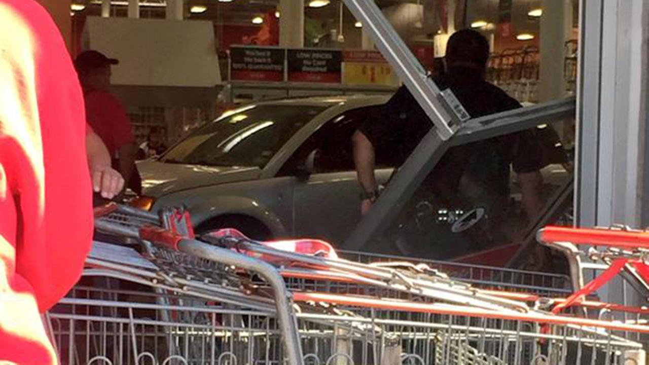 A Twitter user captured the vehicle inside the Gulfgate H-E-B Monday.