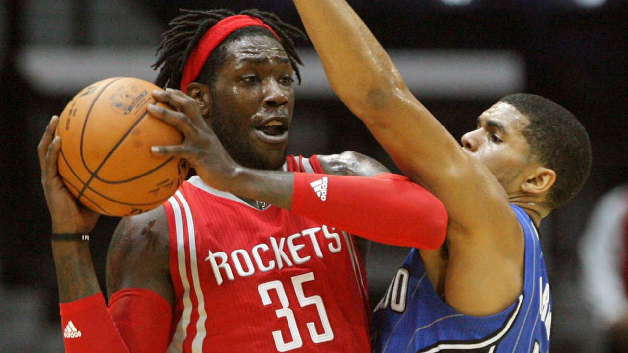 Houston Rockets Montrezl Harrell (35) is defended by Orlando Magic Tobias Harris (AP)