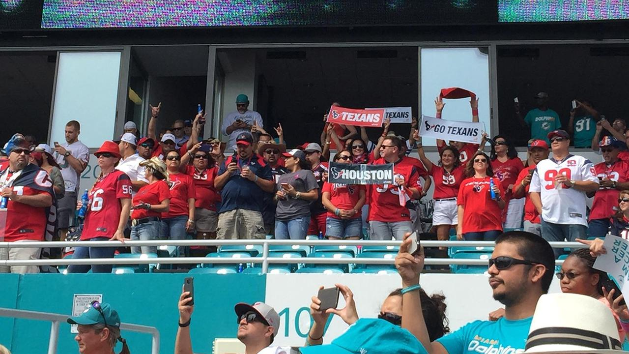 Texans fans in Miami Sunday didnt have a lot to cheer about
