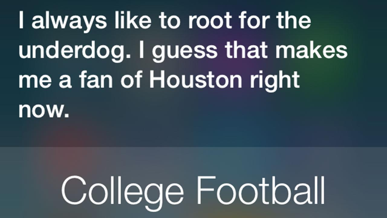 Go Coogs! iPhone's Siri throws support behind UH Cougars