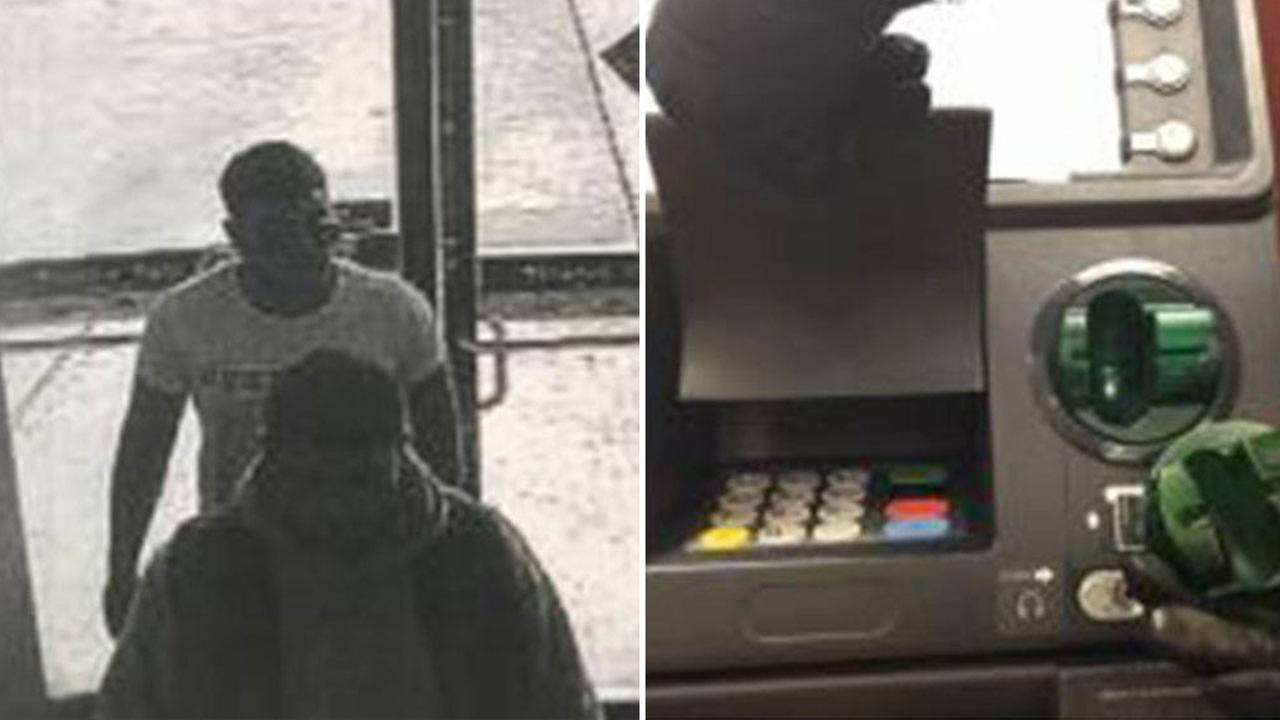Two men sought after card skimmer attached to ATM in