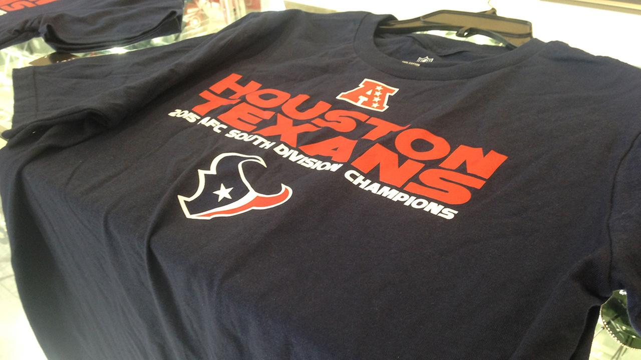 Texans gear sells out as fans prepare for team's wildcard match-up