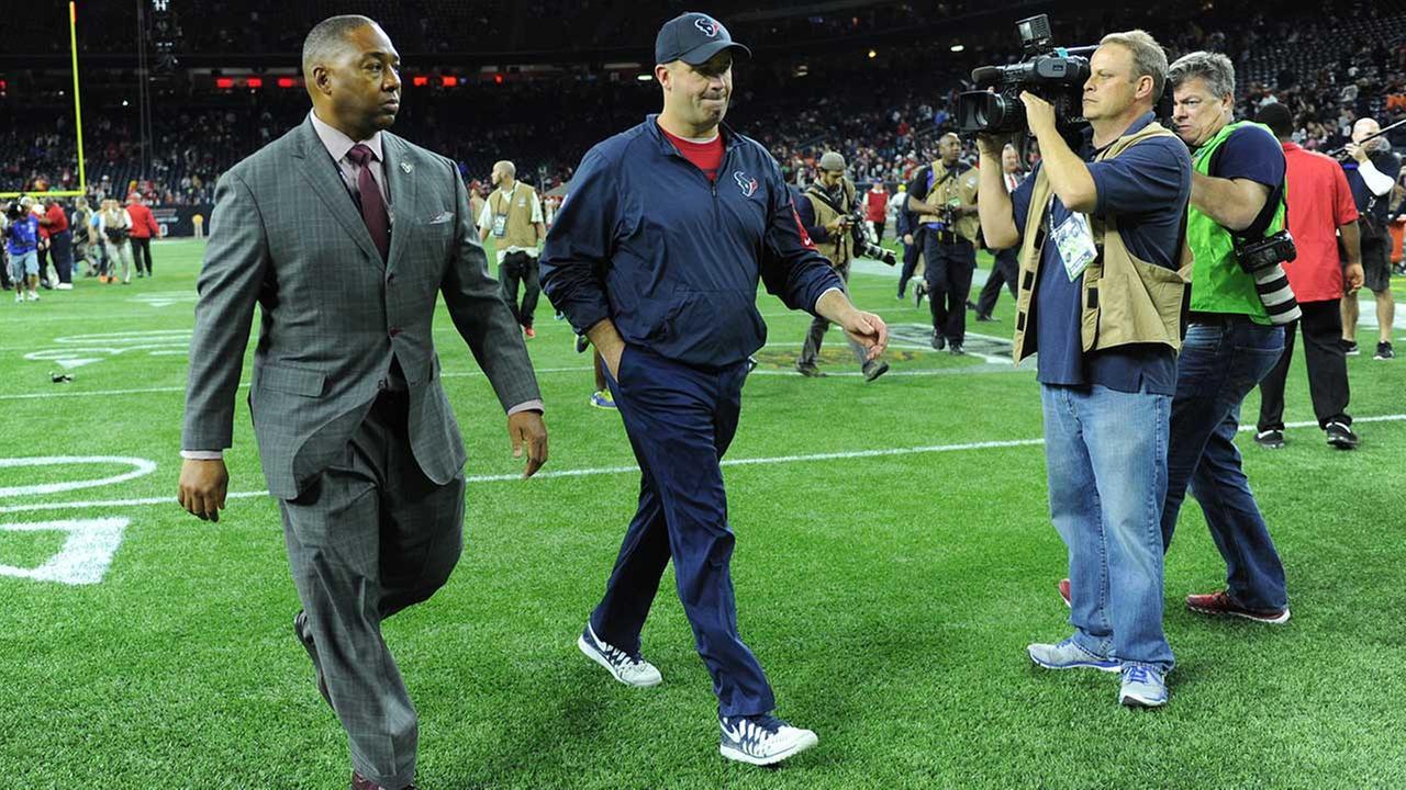 Houston Texans head coach Bill OBrien walks off the field after Saturdays loss to Kansas City