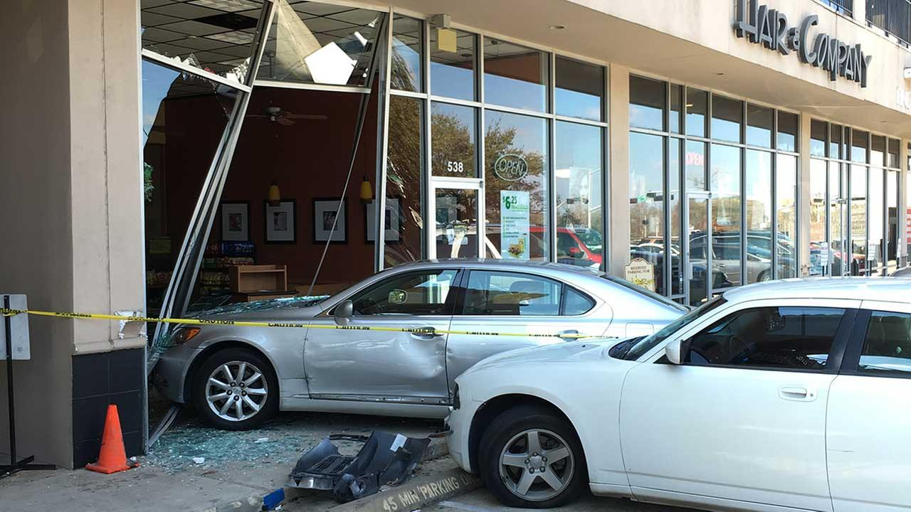 Woman drives into Subway restaurant near downtown Houston