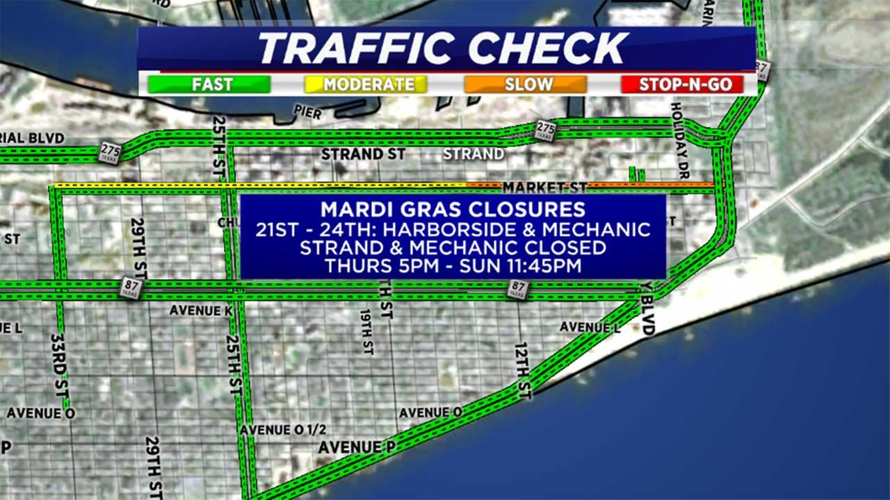 Hardy Toll Road, West Beltway, and Mardi Gras closures this weekend