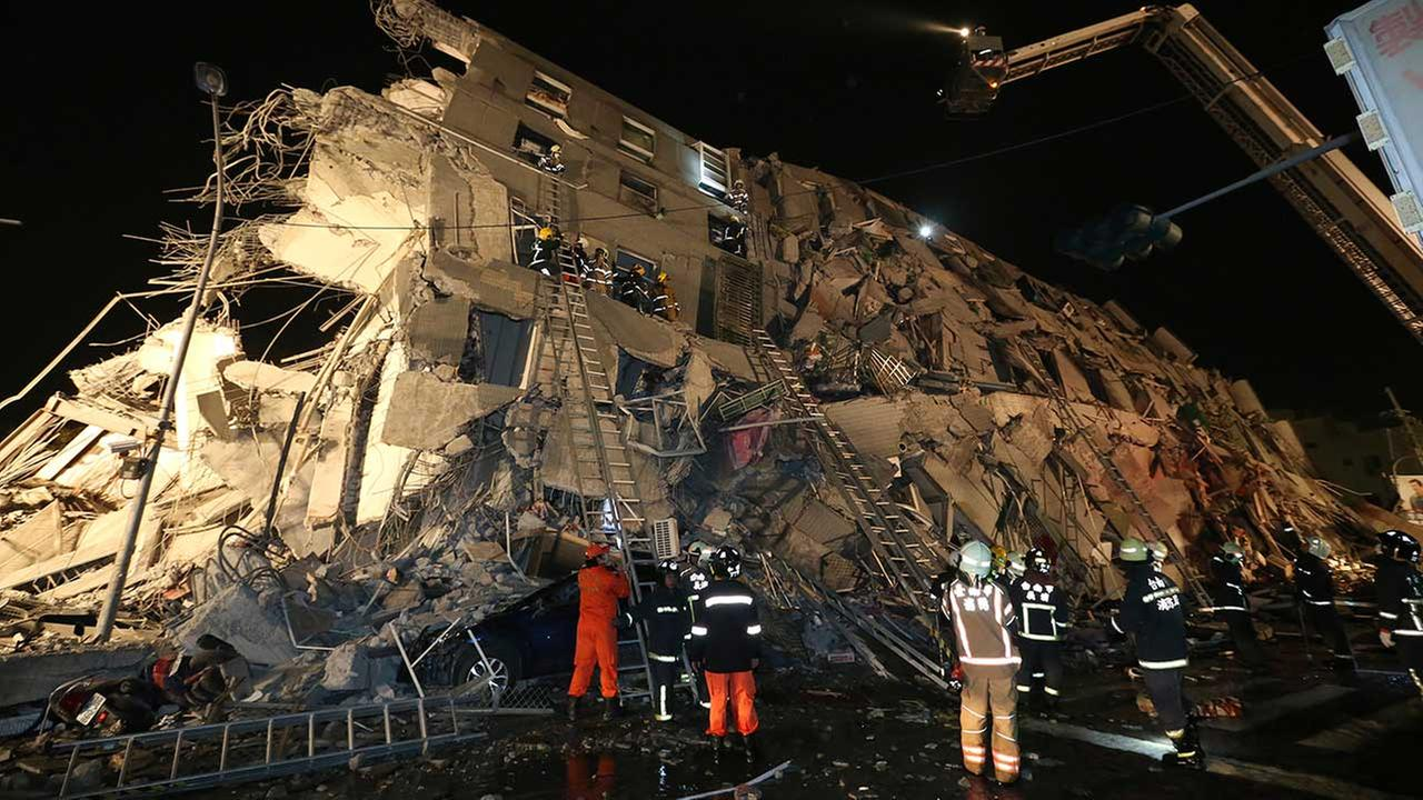 Strong 6.4 magnitude earthquake hits Taiwan, many trapped in toppled building