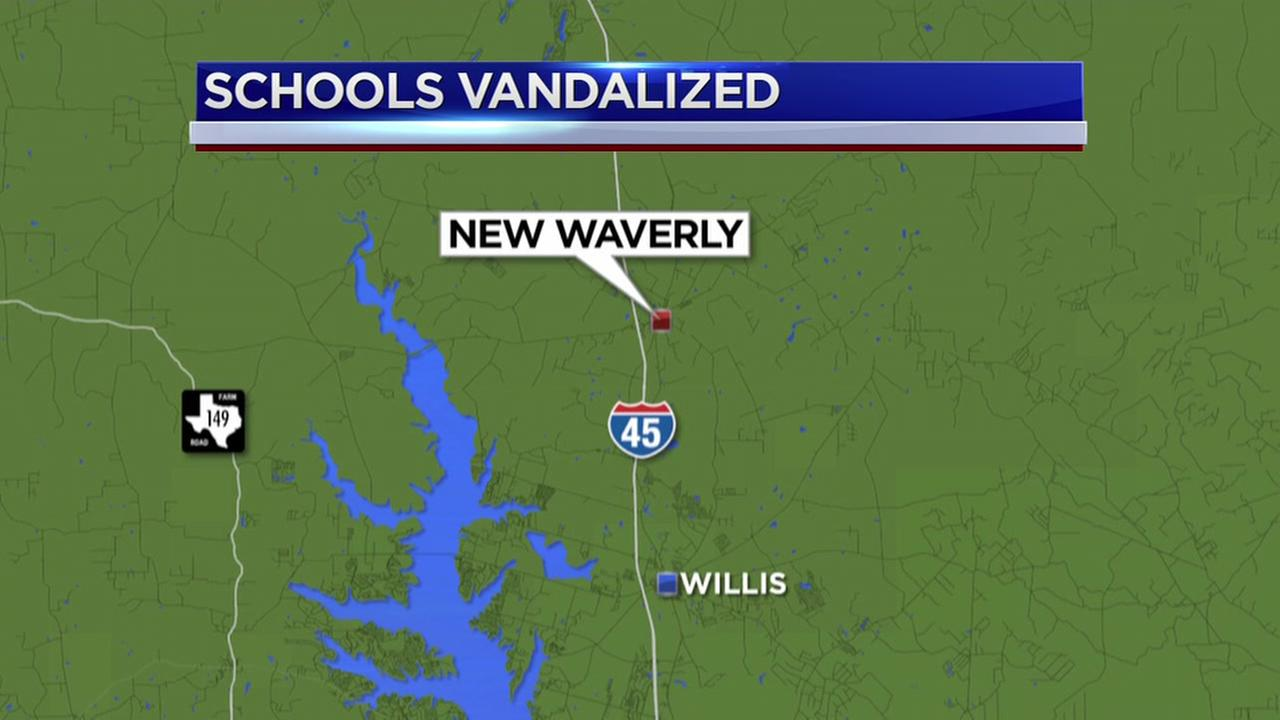 Vandals damage several New Waverly ISD campuses