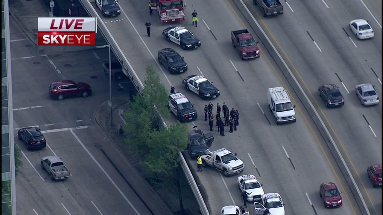 Chase ends on highway in the middle of rush hour traffic
