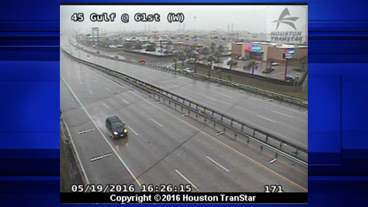 I-45 at 61st street in Galveston is being shut down because of high water.