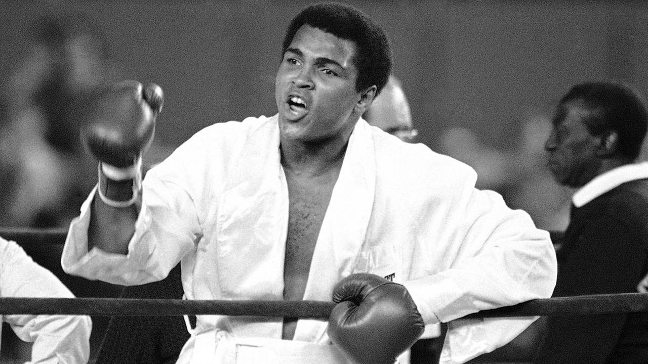 Muhammad Ali is seen prior to the first round of his title fight against heavyweight contender Ken Norton.
