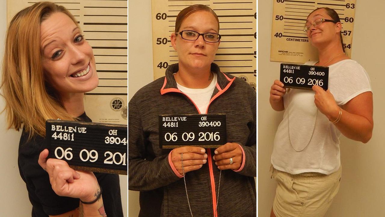 Ashley England, Mary Jordan and Sammie Whaley were all arrested last week.