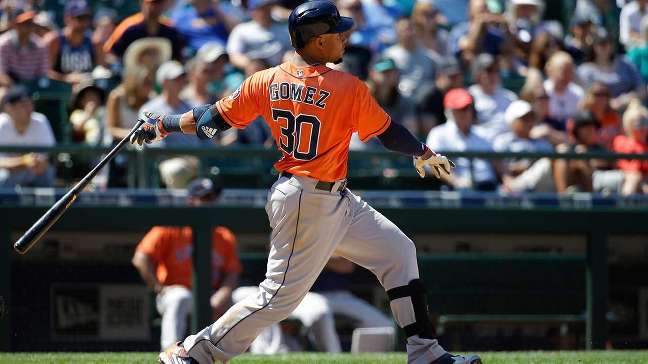 Carlos Gomez smacked a grand slam Sunday in the Astros 8-1 win over Seattle Sunday.
