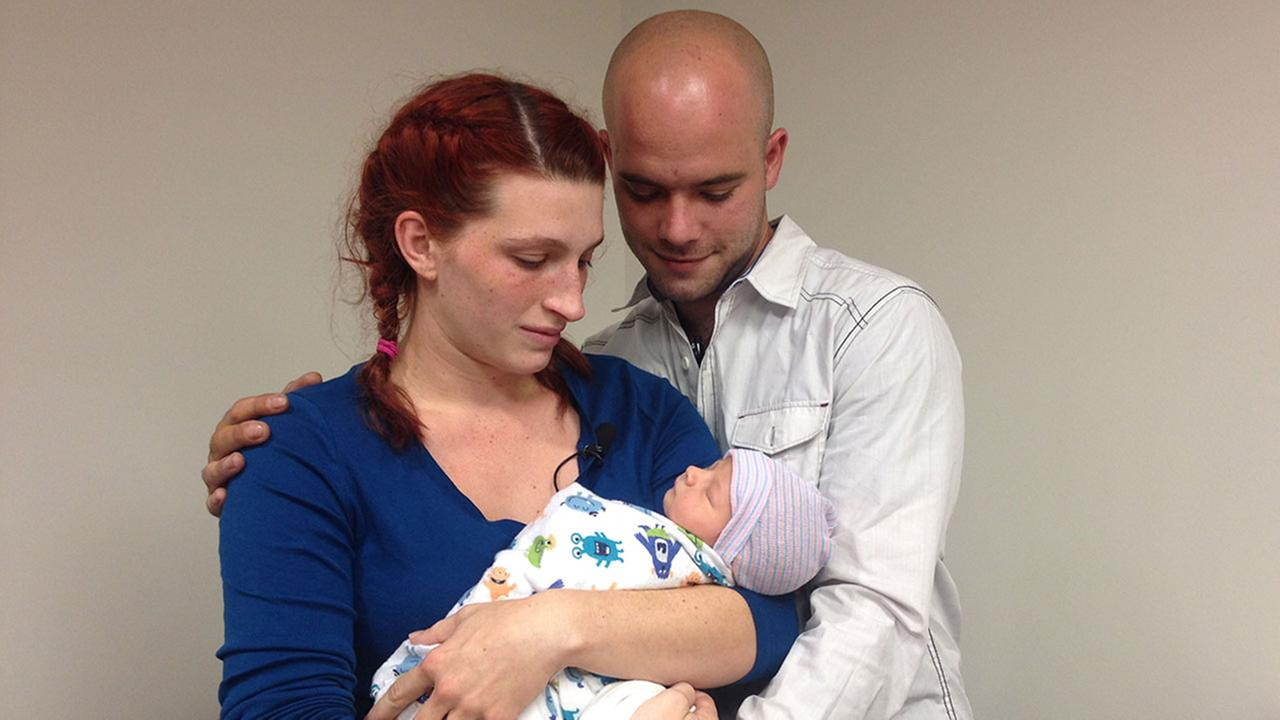 Chad and Leslie had been planning for Caseys arrival for months.  She went into labor just as they were trying to save their belongings from fire.