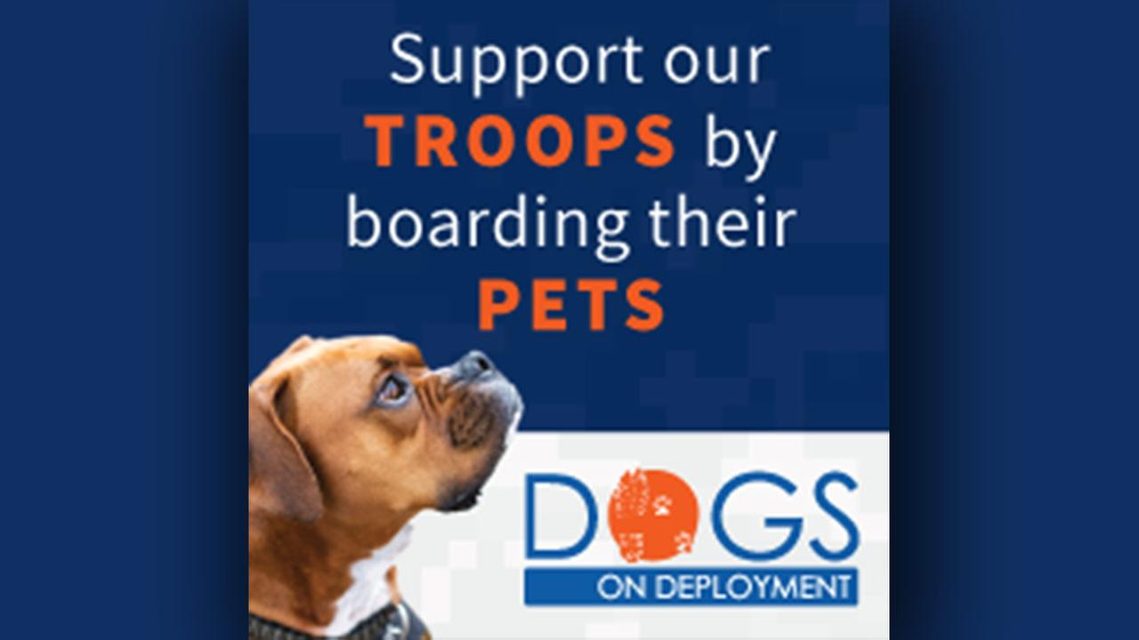 Support our troops by boarding their pets