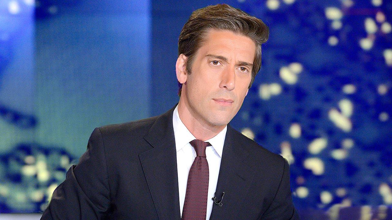 In this image released by ABC News, anchor David Muir from World News Tonight with David Muir, appears on the set in New York.