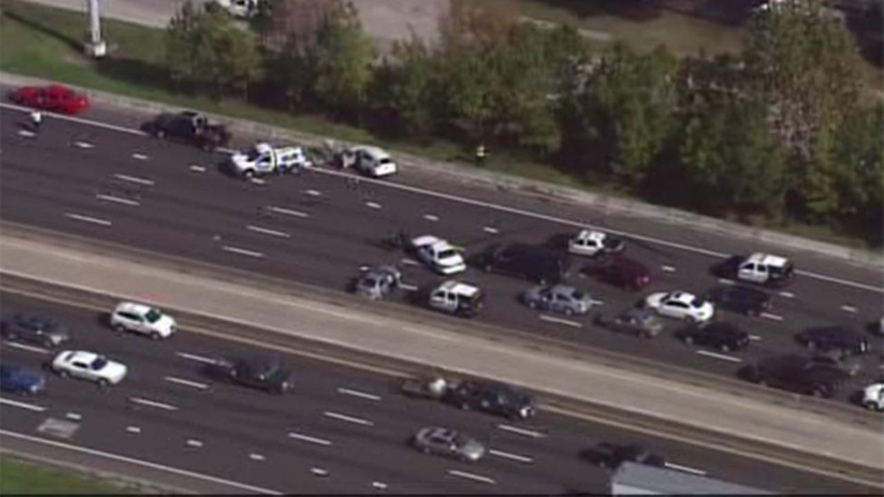 NB Lanes of I-45 at Patton closed following police chase