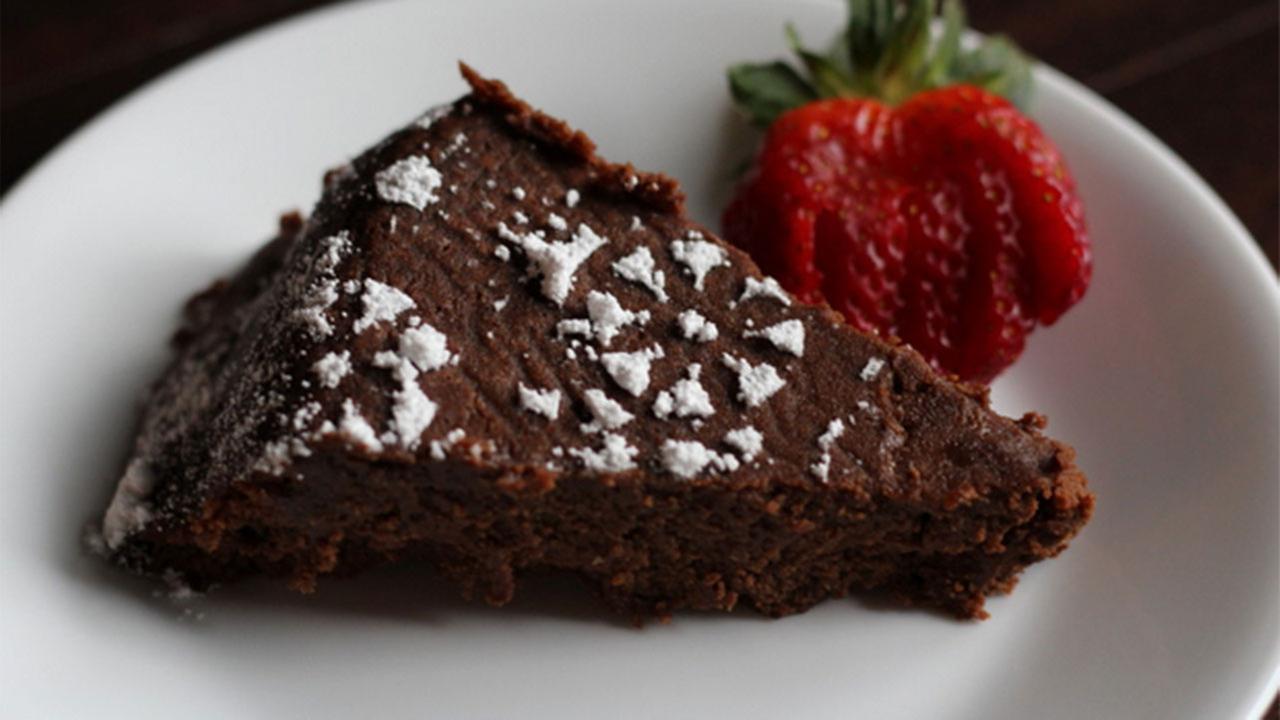 Katherine Whaley's flourless chocolate fudge cake