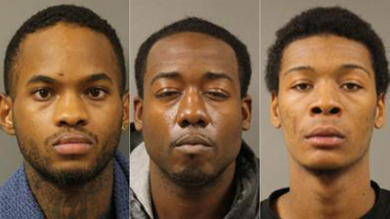 Trio arrested in string of armed robberies in north Harris County