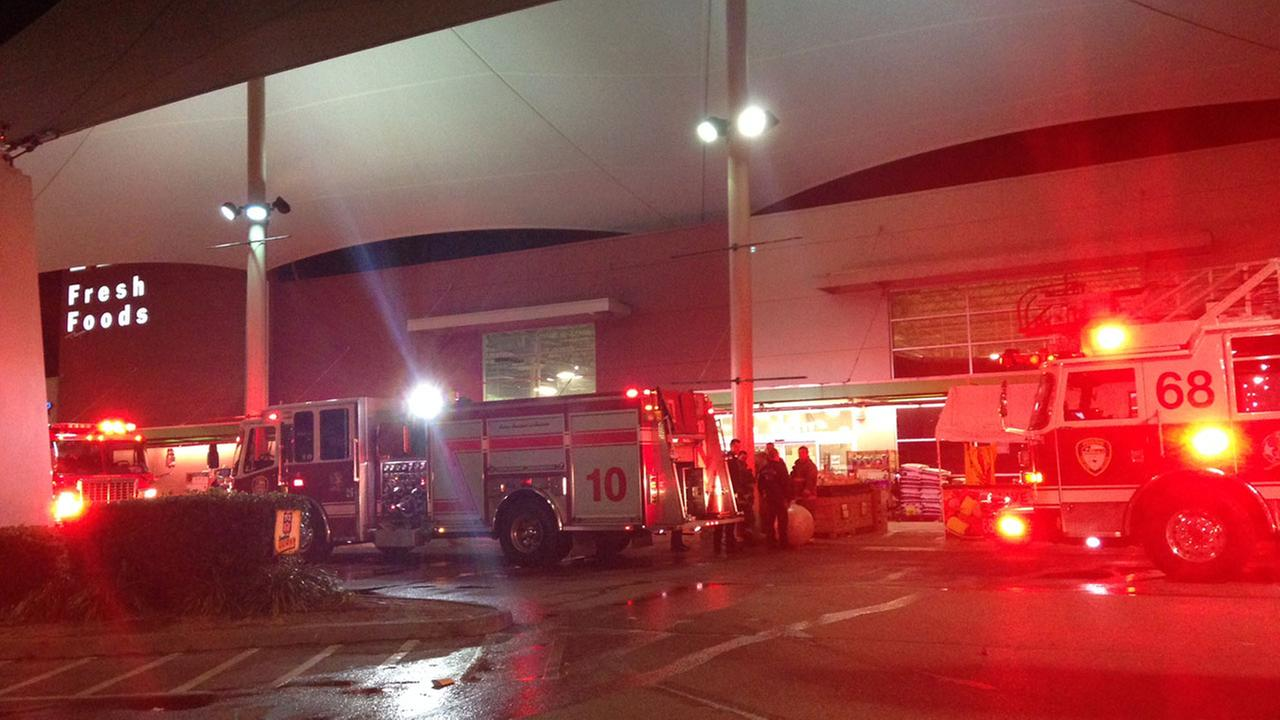 Toilet paper set on fire at back of HEB store in SW Houston