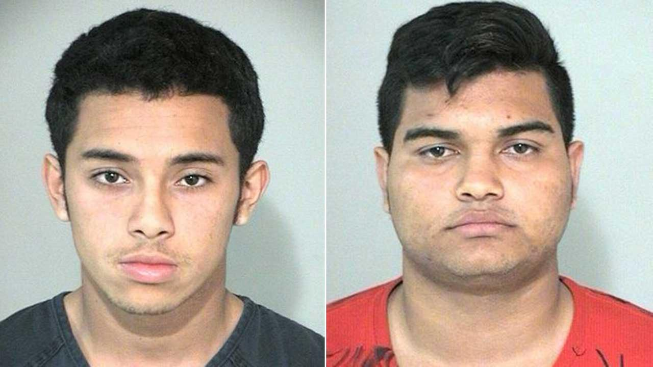 Michael Jesus Hernandez, 18, and Bryan Barahona, 17, both were charged with burglary of a building and engaging in an organized criminal act.