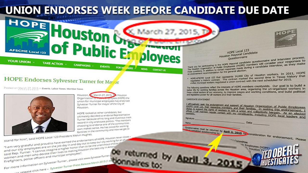 Timing of Houston public employee union endorsement questioned
