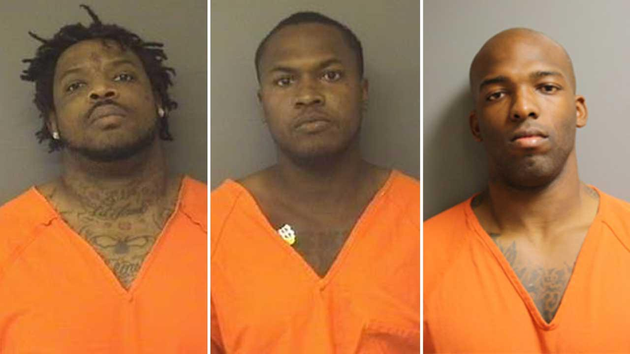 From left to right, Kevin Smithers, Adrian Johnson and Darryl Broussard, Jr.   Broussard remains on the loose.
